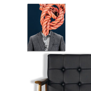 Orange Knotted Head by Glen Ellis, Digital Art on Canvas