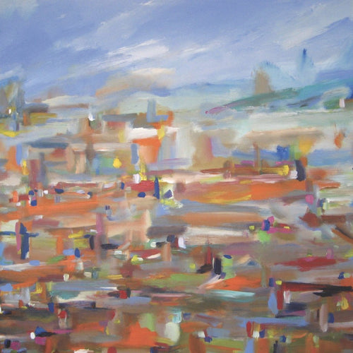 Approaching LA, Acrylic on Stretched Canvas by John Kneapler