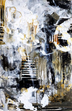 """Going Up"" By Marie Manon, Mixed Media on Birch Panel"