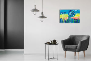 Dharma Urbano by Madelaine Morel, Olea on Canvas