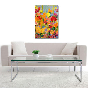 Flower Jazz by Dave Calkins, Acrylic on Canvas