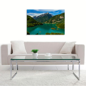 """Diablo Lake"" By Mike Humphries, Metal Print"