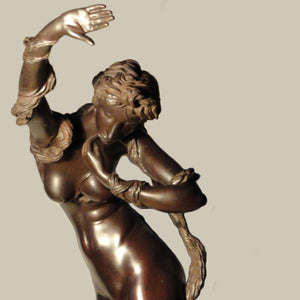 """Siren"" by Maxim Titov, Casted Bronze, Patina"