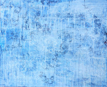 """Blue"" By Judit Escayola, Mixed Media on Canvas"