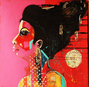 """Nina"" By Liz Arnold, Acrylic on Wood"