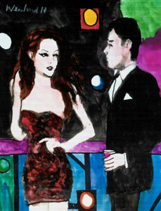 """Happy Hour Love and Romance"" By Harry Harry Weisburd,  Watercolor on 100 lb  Paper"