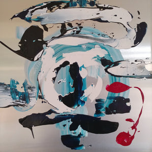 Aphostrophe by Jora Nelstein, Acrylic and Aluminum (Framed)