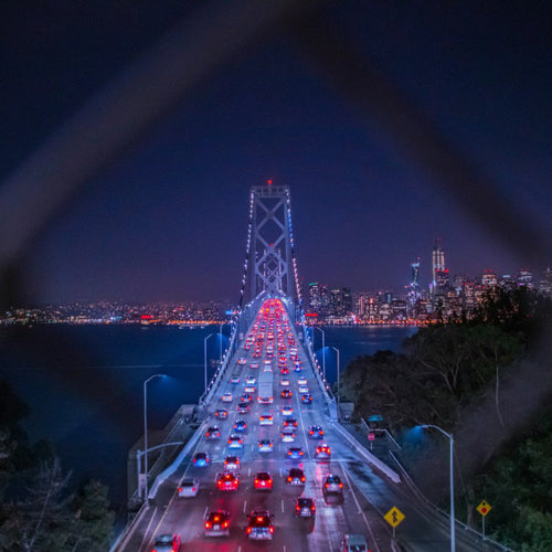 Traffic to the City (Bay Bridge San Francisco) by Don McCall, Photgraph on Acrylic