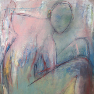 Bevingad by Helena Gullstrom, Mixed Media on Canvas