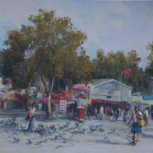 Bird Street by Nika Moshtaridoust, Oil on Canvas