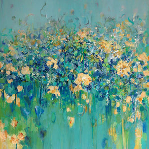 """Blue By You"" By Jeannie Fafoutis, Acrylic on Canvas"