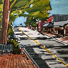 Canton Street by Craig Ford, Oil on Canvas Framed
