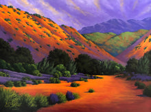 """Canyon Aglow"" By Joe A. Oakes, Acrylic on Canvas"