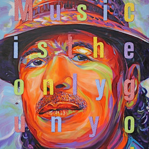 Carlos- Music is the Only Gun You Need by Charles Bongers, Acrylic on Canvas