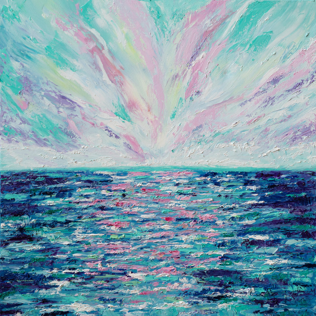 Cotton Candy Sky by Brianna D'Amato, Oil on Canvas