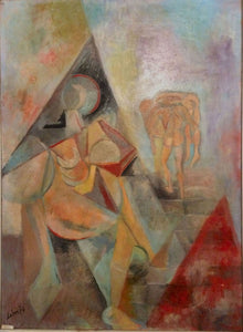 """Désarroi"" By Robert Labor, Oil on Canvas"
