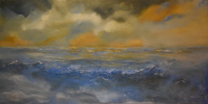 """Cerulean Seas"" by Tamara Bettencourt,  Acrylic on Canvas"