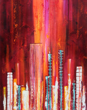 """Electroscape 1"" Susie Hall, Acrylics on gallery-wrapdped canvas with the edges painted black"