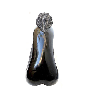 Final by Marian Sava, Black Belgian Marble, Sculpture