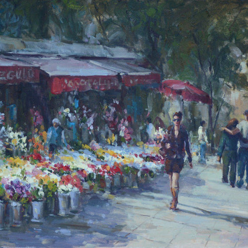 Flower Street by Nika Moshtaridoust, Oil on Canvas