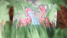 """Flamingoes"" By Dave Hull, Multiplane Photograph on Canvas"