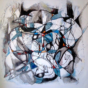 """No.1"" By Hassan Kouhen, Mixed Media on Canvas"