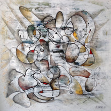 """No.3"" By Hassan Kouhen , Mixed Media on Canvas"
