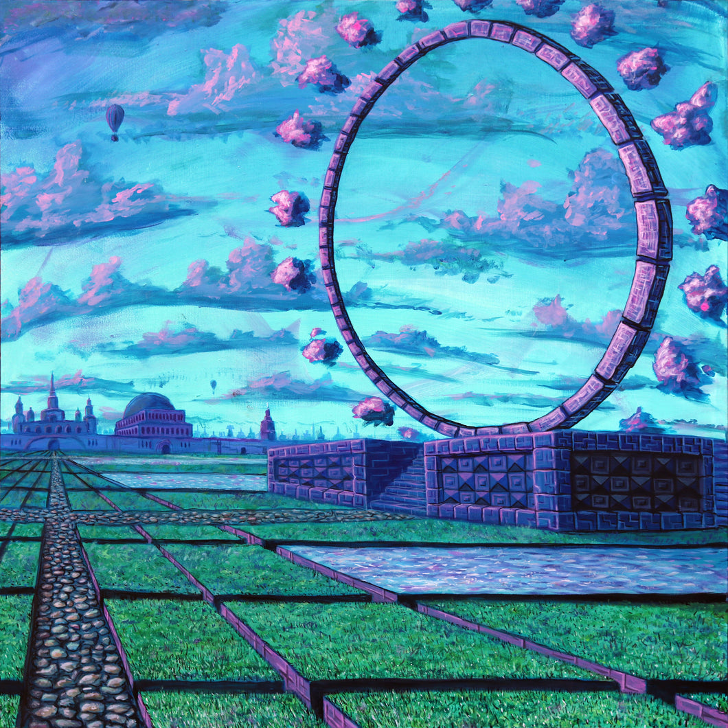 Gateway Plaza by Drake Arnold, Acrylic on Wood Panel