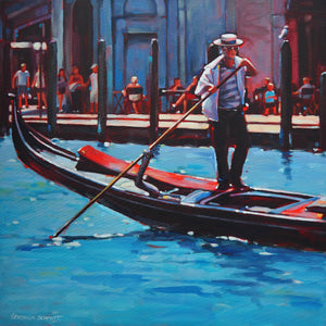 Gondolier by Veronica Schmitt, Acrylic on Canvas