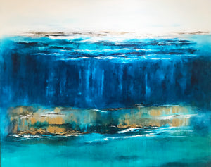 Love Is Like The Ocean by Jud Keresztesi, Acrylic on Canvas