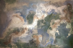 Earth by Courtney Pals, Mixed Media on Canvas