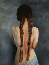 """Braided Girl"" By Hernan Riviera, Oil On Canvas"