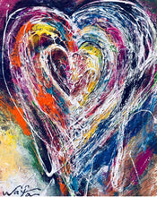 Tangled Hearts by Wafa Abbasi, Mixed Media on Canvas