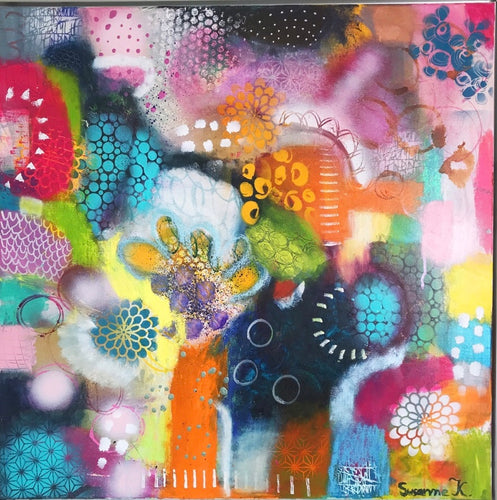 Colorjoy by Susanne Kurwig, Mixed Media on Canvas