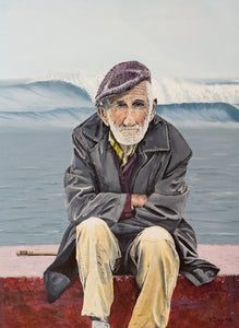 The Old Waterman by Kevin Daly, Mixed Media on Canvas