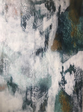 """ABSORPTION"" By Jodie Stejer, Encaustic With White Floating Frame"