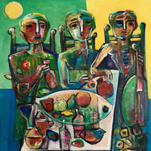 Feast in Moonlight by Fahri Aldin, Acrylic on Canvas