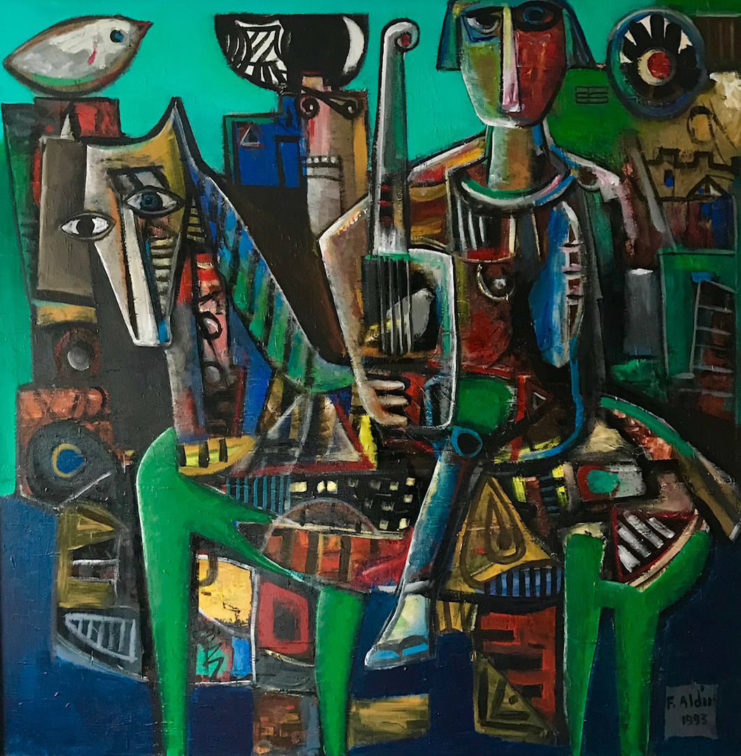 Modern Minstrel by Fahri Aldin, Acrylic on Canvas