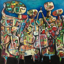 Musicians by Fahri Aldin, Acrylic on Canvas