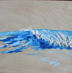 """Laguna Wave"" ""Reflections"" By Tina Kalo, Mixed Media and Oil on Canvas"