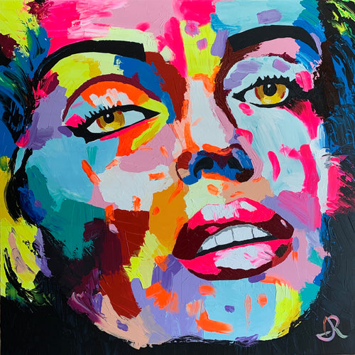 """Marilyn 1"" By Israel Rodriguez, Acrylic on Canvas"