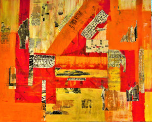 """Urban Renewal"" By Karen Stein, Mixed Media on Canvas"