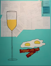 """Breakfast At Tiffany's?"" By Zarducci, Mixed Media on Canvas"