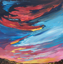 A Deserts Storm by Chanel Kreuzer, Oil on Canvas