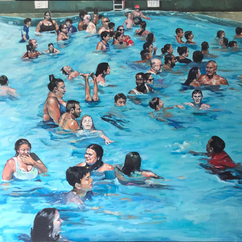 People of Six Flags - We're all in this Together by Candice Flewharty, Oil on Canvas