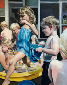 Hot Busy People by Candice Flewharty, Oil on Canvas
