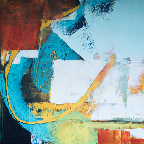 Jazz by Erin Hughes, Mixed Media on Cradled Board