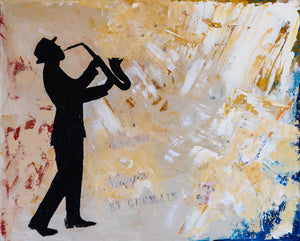 """Jazz a Saint Germain"" By Natalie Gourdal, Acrylic on Canvas"