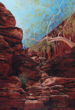 """Sun Soaked Cascade"" By Jessica Holliday, Soft Pastels"