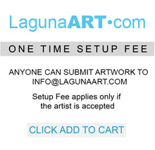 A ONE TIME SET-UP OF $250.00 (Applies only if the artist is accepted) JM